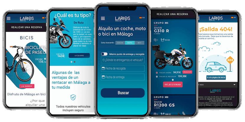 Larios Rental es una empresa de alquiler de coches en Málaga familiar y moderna adaptada al entorno digital